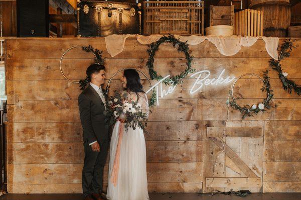 bride groom sign
